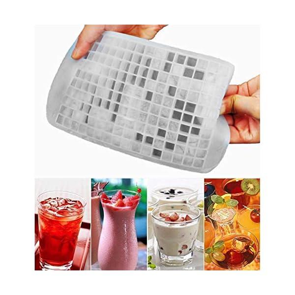 Yeemg Vaschetta del Ghiaccio Stampo per Cubetti di Ghiaccio in Silicone 160 Griglia Creatore di Cubi Muffa Congelata… 5 spesavip