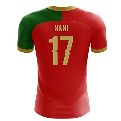 f2e7634ee7e Amazon.com : Airosportswear 2018-2019 Portugal Flag Home Concept Football  Soccer T-Shirt Jersey (Nani 17) - Kids : Sports & Outdoors