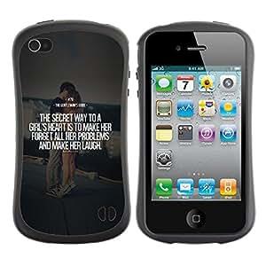 LASTONE PHONE CASE / Suave Silicona Caso Carcasa de Caucho Funda para Apple Iphone 4 / 4S / marriage couple quote love text heart