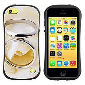 Pulsar iFace Series Tpu silicona Carcasa Funda Case para Apple iPhone 5C , Couple Ring