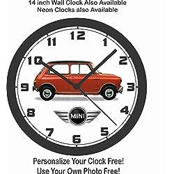 CLASSIC MINI-COOPER WALL CLOCK-TRIUMPH, VW, PORSCHE