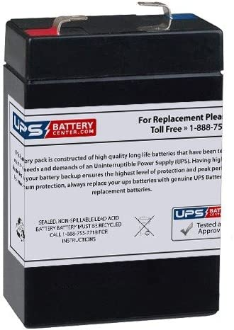 Rhino SLA 2.8-6 6V 2.8Ah T1 Replacement Battery by UPS Battery Center