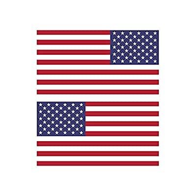 Reverse and Forward Facing American Flag Stickers FA Graphix Vinyl Decal USA US America Flags Stars and Stripes: Automotive