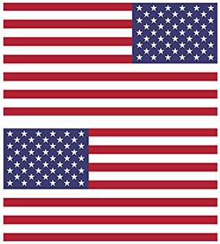 Reverse and Forward Facing American Flag Stickers FA Graphix Vinyl Decal USA US America Flags Stars and Stripes