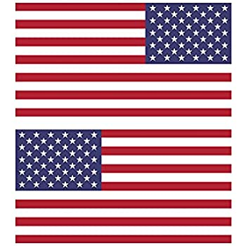 Reverse and forward facing american flag stickers fa graphix vinyl decal usa us america flags stars