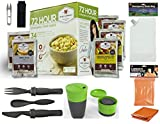 72 Hr Survival Kit One Person Wise Company 72-Hour Emergency Food Supply | Readi USA Survival Supplies | Light My Fire | Water Bag | Eating Utensils | Survival Scissors | Aluminized Emergency Blanket