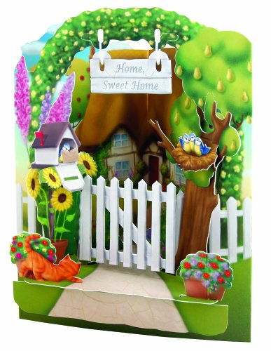 Santoro Interactive 3D Swing Greeting Card, Home Sweet Home
