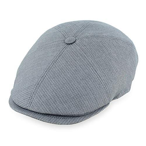 (Belfry Flat Cap Mens Summer Ivy Newsboy Italian Cap 5 Styles (Large, SeigerGrey))