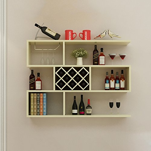 Living Cabinet Room Maple - Shelf XM ZfgG Solid Wood Multi-Functional Racks, Living Room Hanging Wine Cabinet Racks 10010023cm (Color : White Maple)