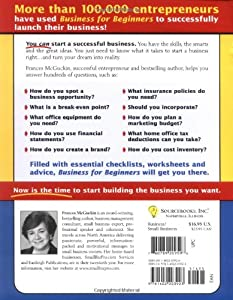 Business for Beginners: From Research and Business Plans to Money, Marketing and the Law (Quick Start Your Business) from Sourcebooks