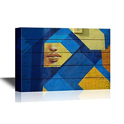 Canvas Wall Art - Abstract Graffiti - Gallery Wrap Modern Home Art | Ready to Hang - 12x18 inches