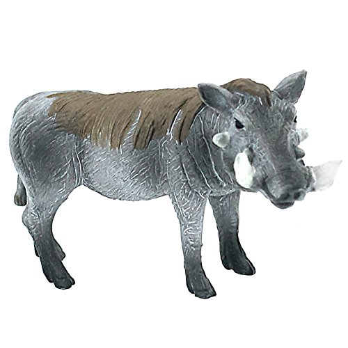 FUNSHOWCASE African Jungle Animals Male Warthog Boar Toy Figure Realistic Plastic Figurine Height 2