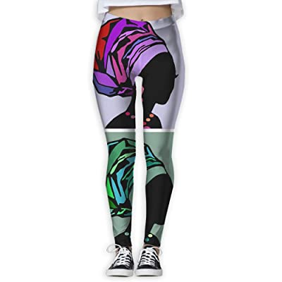 Traditional African Dress Women's Fitness Stretch Digital Printed Yoga Pants