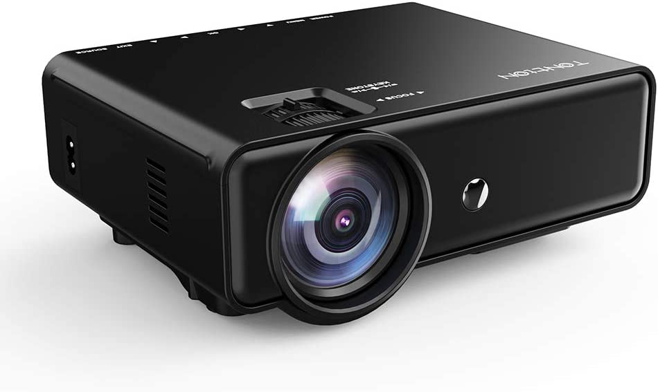 Tontion Upgrade 3400Lux Video Projector 50,000 Hours 176inch Movie Projector Home Theater with HDMI Cable, Support 1080P/TV/VGA/USB/AV/Laptop/Phone