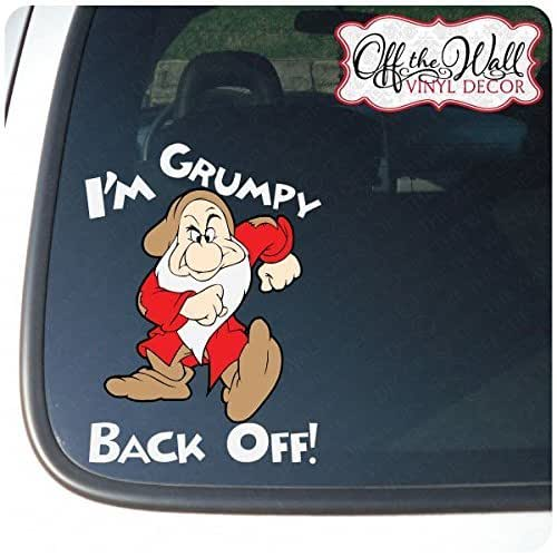 Amazon.com: I\'m Grumpy Back Off! Color Vinyl Decal Sticker for Cars ...