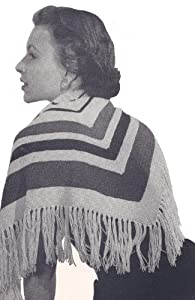 Vintage Scarves- New in the 1920s to 1960s Styles Vintage Knitting PATTERN to make - Knitted Striped Triangle Shawl Wrap Scarf. NOT a finished item. This is a pattern and/or instructions to make the item only. $7.99 AT vintagedancer.com