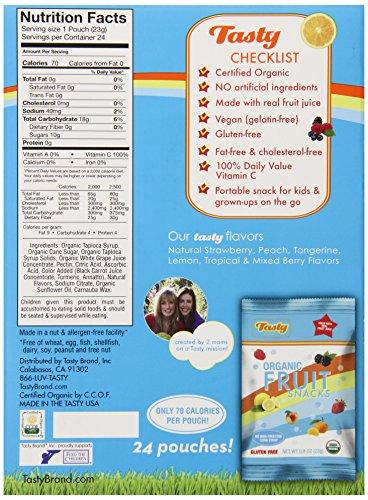 Amazon.com : Tasty Brand Organic Fruit Snacks, Mixed Fruit Flavors ...