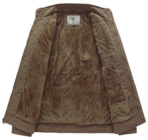 Militare Wenven Invernale Giacca Stile In Uomo Cotone Cachi OggXfSqx