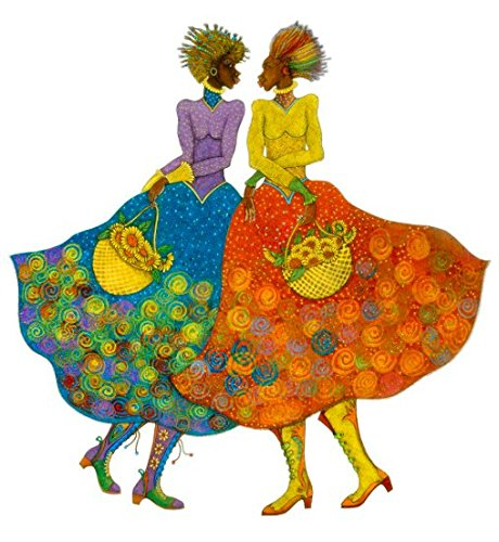 purenet Sunflower Girls by Charles Bibbs Limited Edition Print 27.25X26.50