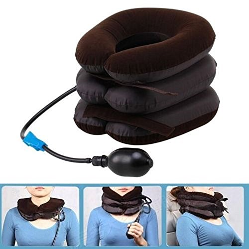 Neck Traction Pillow, ixaer Neck Traction Device, Inflatable Cervical Vertebra Tractor for Neck Headache Back Pain