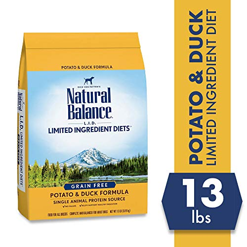 Natural Balance L.I.D. Limited Ingredient Diets Dry Dog Food, Potato & Duck Formula, 13 Pounds, Grain Free