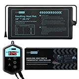 "VIVOHOME 10""x20.75"" Waterproof Seedling Heat Mat and 68-108°F Digital Thermostat Controller Combo Set MET Certified"
