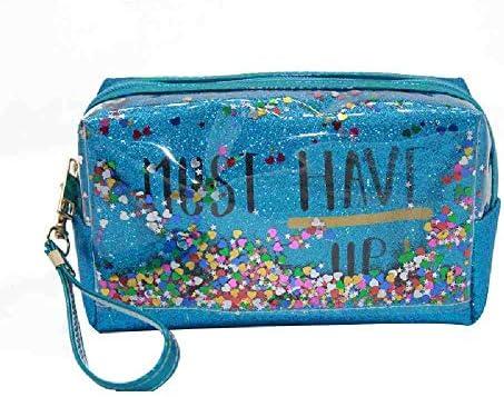OYHBGK Moda Mujer Lentejuelas de viaje Maquillaje Organizador Bolsa Cremallera Estuche cosmético Maquillaje Baño Bolsa de almacenamiento Toiletry Wash Beauty Kit Box: Amazon.es: Belleza