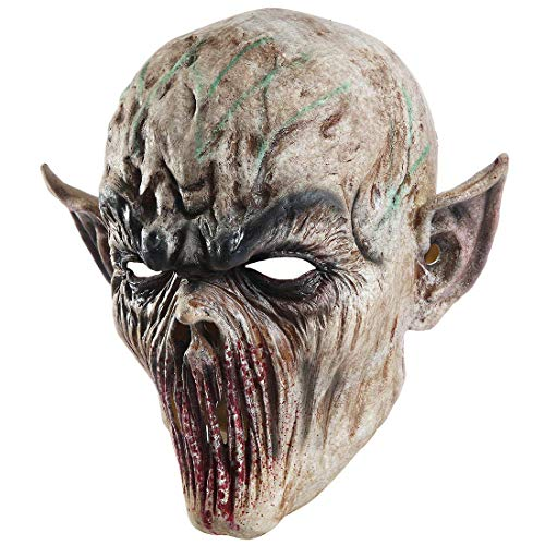 Waltz&F Creepy Scary Halloween Cosplay Blood Mouth Costume Mask for Adults Party Decoration Props