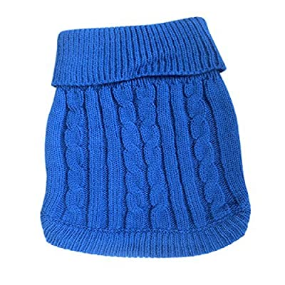FAMI Cute Pet Clothes, European Classical Pet Sweater, Turtleneck Dog Sweater with Classic Aran Knit from FAMI