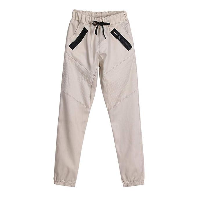 ZODOF Pantalones Casuales de los Hombres de la Cremallera de Moda Pantalones de chándal de los