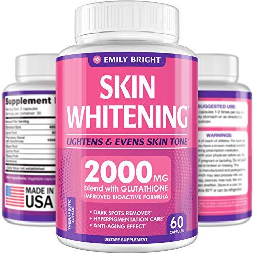Glutathione Whitening Pills – 2000mg Glutathione – Better than Skin Lightening Cream – Dark Spots & Acne Scar Remover…