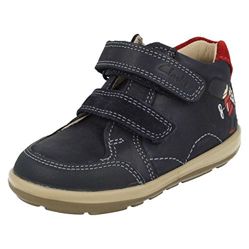Clarks Softly Bop Fst Boys First Shoes in Navy 4 G Navy