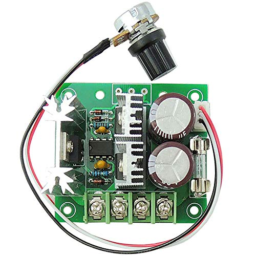uniquegoods 12v 24v 36v 10A PWM DC Motor Speed Controller Adjustable Driver CCMHCW Variable Speed Switch 10 Amp Speed Controller