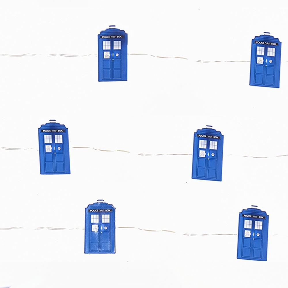 Doctor Who TARDIS LED Fairy Light Set - 20 Lights Kurt S Adler KSDW9171