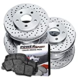 Power Sport [FULL KIT] PowerSport Cross Drilled Brake Rot...