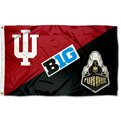 College Flags and Banners Co. Indiana vs. Purdue House Divided 3x5 Flag