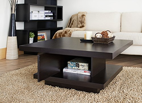 Large Product Image of ioHOMES Celio Square Coffee Table, Red Cocoa