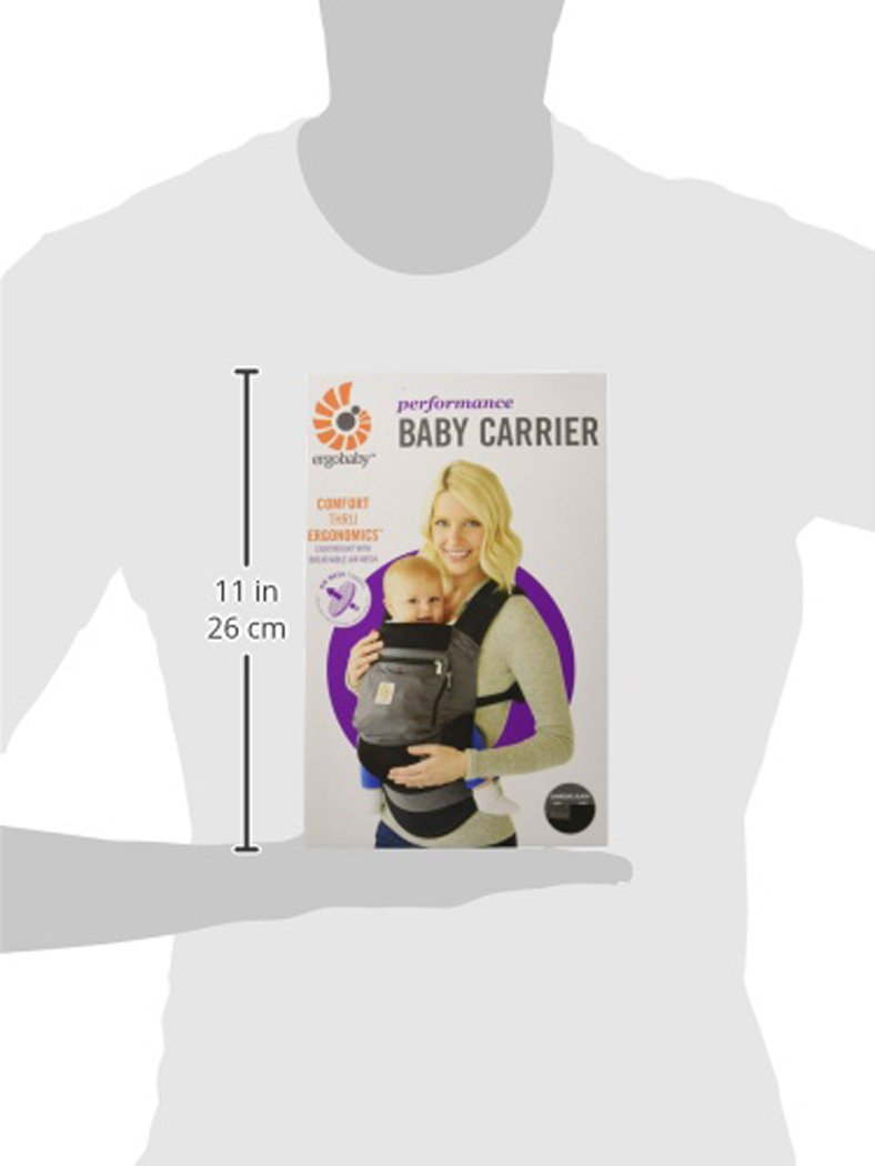 Charcoal Grey Ergobaby Original Cool Air Mesh Performance Ergonomic Multi-Position Baby Carrier with X-Large Storage Pocket