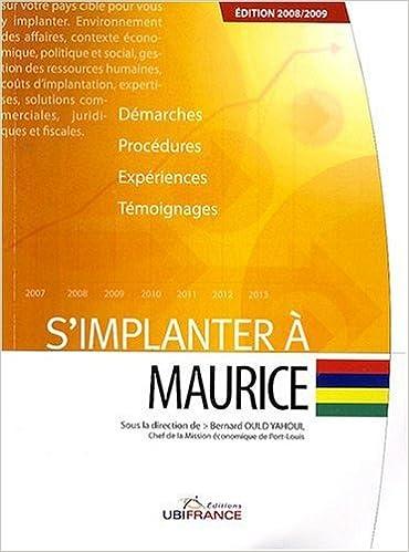 Téléchargement S'implanter à Maurice pdf