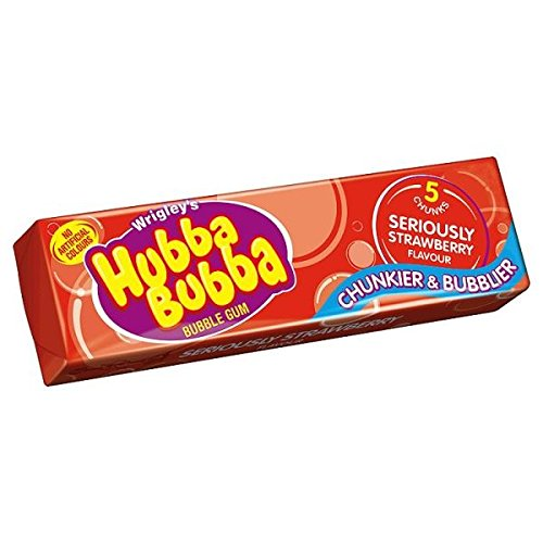 Hubba Bubba Flavors - Wrigley's Hubba Bubba Bubble Gum Seriously Strawberry Flavour (20 Packs)