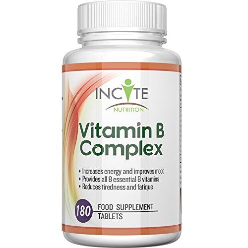 Hochwirksamer Vitamin B Komplex - 180 kleine 6mm Tabletten 100% Geld-zurück-Garantie (6monatiger Vorrat) HERGESTELLT IM VEREINIGTEN KÖNIGREICH Enthält alle 8 B Vitamine mit B1 B2 B3 B4 B5 B6 B7 Biotin B9 Folsäure & B12 Methylcobalamin - Für Männer & Frauen geeignet, Eine pro Tag ergänzt alle B Vitamine - Diese tägliche B Komplex Ergänzung erhöht Ihre Energie & und entspannt, unterstützt die Schilddrüse
