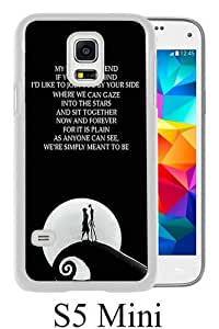 Newest Samsung Galaxy S5 Mini Case ,Nightmare Before Christmas Jack And Sally 01 White Samsung Galaxy S5 Mini Screen Phone Case Popular Fashion And Durable Designed