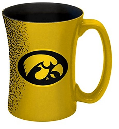 NCAA Iowa Hawkeyes Mocha Mug, 14-ounce, Yellow