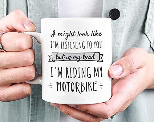 Motorbike Mug, In My Head I'm Riding My Motorbike Mug, Biker Gift, Gift for Motorbike Lover, Motorbike Gift, Motorcycle Gift, Motorcycle Mug,11 oz