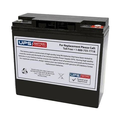 CBB 6-DZM-20 12V 20Ah Replacement Battery with Insert Terminals - by UPSBatteryCenter