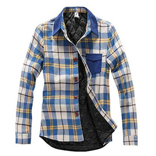 Quilted Plaid Flannel Work Shirt - 4