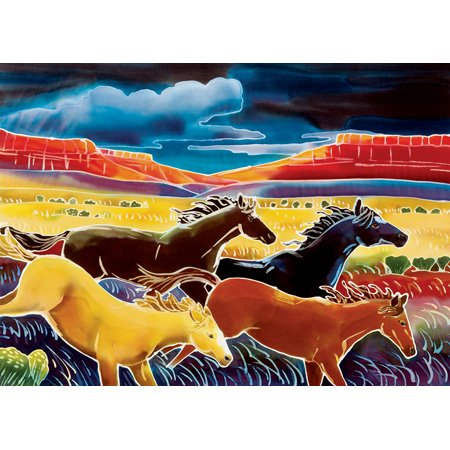 Running the Open Range Jigsaw Puzzle 550pc