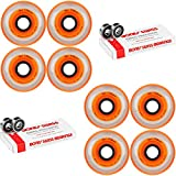 Labeda Millennium Gripper Orange Hockey Inline Wheels 76mm SOFT 8 Pack Swiss