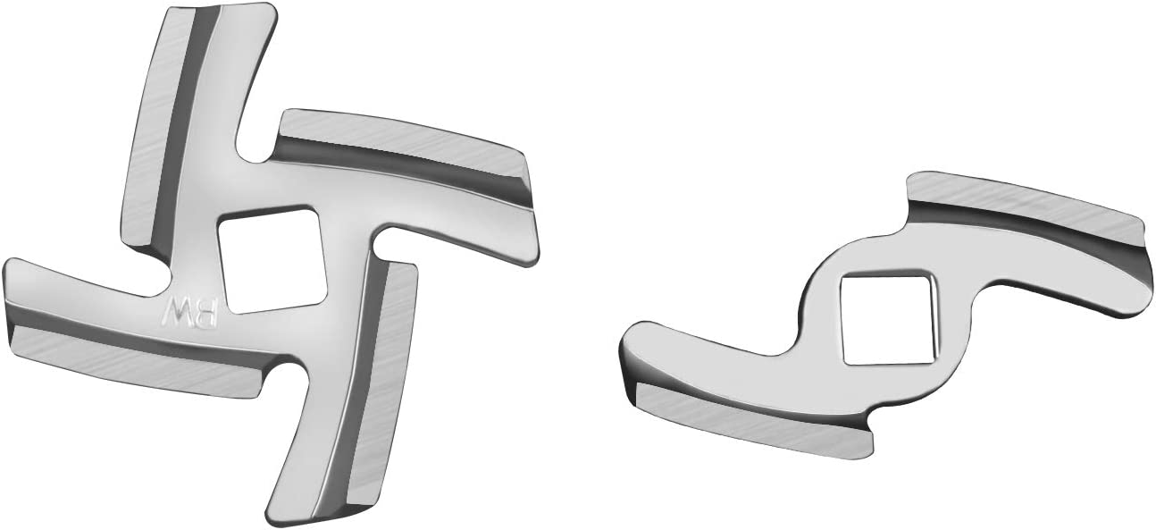 KENOME Meat Grinder Blade (2 Pack) Stainless Steel Knife Replacement for KENOME Meat Grinder Attachment