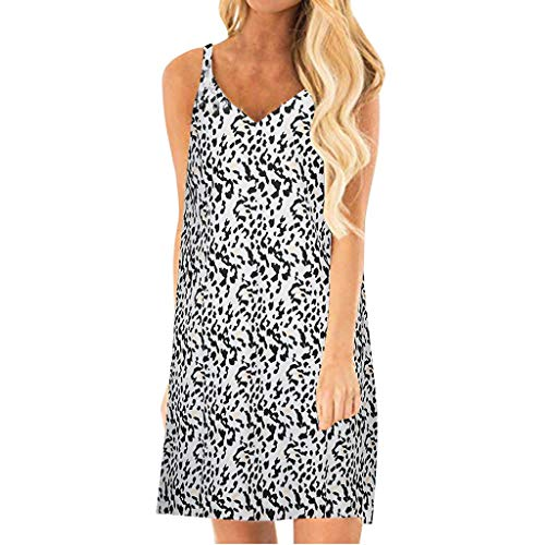 - WANQUIY Women's Sexy V Neck Dress Mini Club Dresses Top Ladies Sleeveless Casual Swing T-Shirt Dresses Black